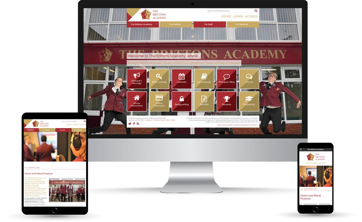 The Brittons Academy Device Mockup