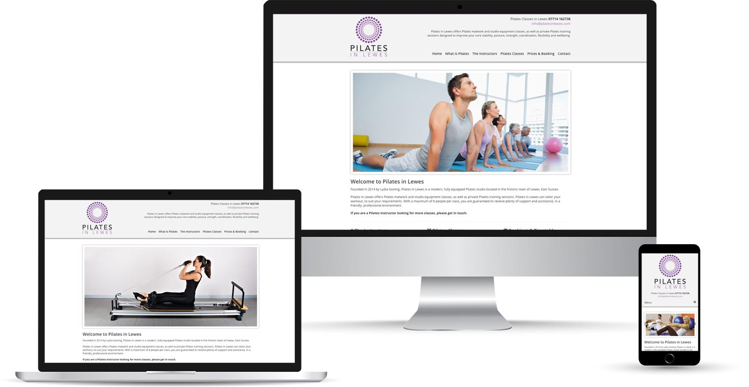 Pilates in Lewes Device Mockup